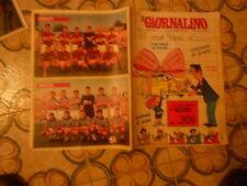 IL GIORNALINO   NR  5  1968  SQUADRE DI  CALCIO  SCHIERATE    MILAN   E  SPAL