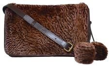 PATRICIA NASH Laser Cut Sherpa Collection Bari Saddle Bag Chocolate NWT $229