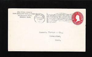 New England Coal & Coke Co Boston 1912 Flag Cancel #6 PSE Entire Cover 4y