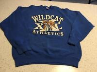 Vintage Kentucky Wildcats Athletics Sweatshirt Adult Size XXL Blue