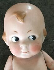 German Jointed KEWPIE STYLE Bisque Doll Character Face 5 Inches