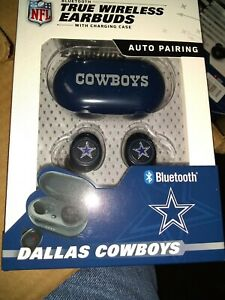 Dallas Cowboys TRUE WIRELESS EARBUDS + Charging Case  (all smart phones tablet
