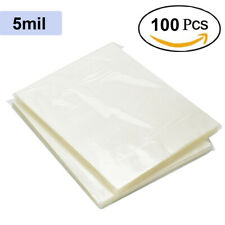 New Listing5 Mil Thermal Laminating Pouches Heat Seal A4 Letter Size 9x115 Sheets 100 Pack