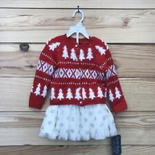 Cynthia Rowley Christmas Outfit 24 Months Cardigan Sweater Skirt Tulle NWT B113