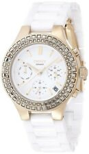 DKNY NY2224 Chambers White Dial Ceramic Bracelet Chronograph Women's Watch
