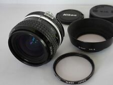 *Exc+* Nikon Ai Nikkor 28mm F/2.8 w/Hood Filter Fcap Rcap from Japan
