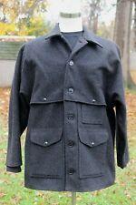 Vintage Mens Filson Double Mackinaw Cruiser Wool Coat 83 USA Charcoal 48 XL