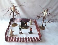 Lemax Graveyard w/Monsters, Ghosts, Eerie Trees Halloween Village Collectibles