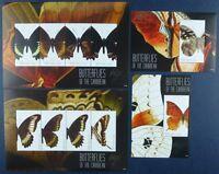 St. Vincent Canouan 2011 Schmetterlinge Butterflies 195-202 Block 17-18 MNH