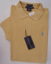 NWT Ralph Lauren Short Sleeve Skinny Fit Polo Shirt Cape Yellow  Size L