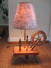 Vintage Mid Century Modern Spinning Wheel Table Lamp Light