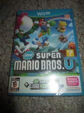 New Super Mario Bros. U + Luigi U (Nintendo Wii U, 2015) NEW Sealed Original