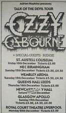 "Ozzy Osbourne rare 1982 Uk ""Speak Of The Devil"" Tour concert print ad"