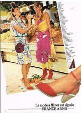 Publicité Advertising 1980 Les Chaussures escarpins France Arno