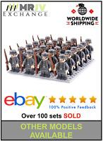 24 Minifigures German Army 2 Soldiers Military WW2 World War II AXIS