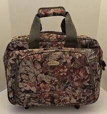 Ricardo Beverly Hills Floral Rolling Carry On Travel Bag Luggage With Lock