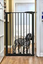 Callowesse Extra Tall Pet Gate 75-82cm x 110cm (Extendable up to 96cm) - Black