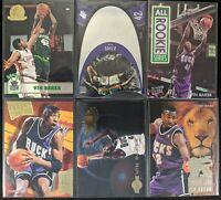 Lot of (6) Vin Baker, Including Upper Deck SPx, NBA Hoops RC & other inserts