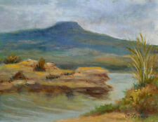 SOUTHWEST LANDSCAPE, NEW MEXICO  ART PRINT, THE PEDERNAL by P. Tarlow