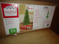 Holiday Time 6 Ft Artificial Wesley Pine Christmas Tree Unlit No Lights NEW