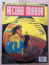 Record Mirror UK magazine August 1990 KLF (3 pages) Duran NWA ads