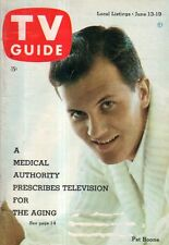 1959 TV Guide June 13 - Pat Boone; Louisiana's Arlene Howell; Queen for a Day