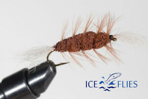ICE FLIES. Bomber. Dark Brown (3-pack) Pick a size. Fly Fishing Fly