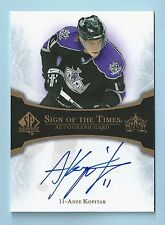 ANZE KOPITAR 2007/08 SP AUTHENTIC SIGN OF THE TIMES AUTOGRAPH AUTO