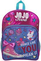JoJo Siwa Bow Backpack Ruck Sack Shoulder Bag Denim Large Pocket Print Back Pack