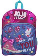 697ececc12 JoJo Siwa Bow Backpack Ruck Sack Shoulder Bag Denim Large Pocket Print Back  Pack