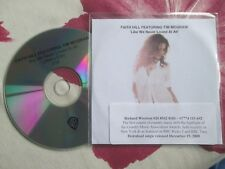 Faith Hill Featuring Tim McGraw Like We Never Loved At All Promo ‎CD Single