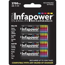 Infapower RICARICABILE AA NI-MH multi uso BATTERIE 1,2 V 2500mAh 4 Pack NUOVO