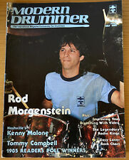 Modern Drummer Magazine July 1985 Rod Morgenstein, Kenny Malone, Tommy Campbell