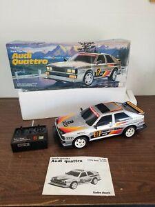 Rare 1985 Vintage RC Radio Shack Audi Quattro W/ Box Manual Works
