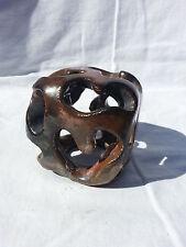 Original Ceramic Sculpture - Organic / Geometric - Tea Light - Raku