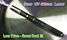 UV  Laser Pointer 5mw with 2 x AAA Alkaline Batteries Great f/Minerals/Gemstones