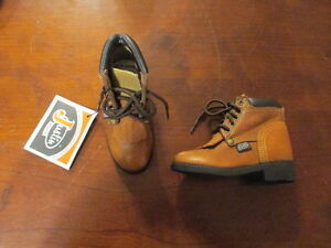 Justin Original Junior Lace-Ups Leather Cowboy Boots Roper 4 1/2 D Toddler NWT