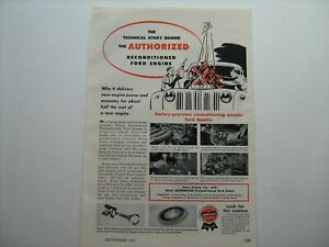 1951 Ford Reconditioned Car/Truck Engine--vintage ad from nice estate collection