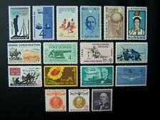 US STAMPS 1961 YEAR COMPLETE SET, SCOTT # 1174-1190. OG, MNH