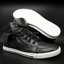 REPORT BLACK SYNTHETIC LEATHER HIGH HI TOP FASHION SNEAKER S89175.136