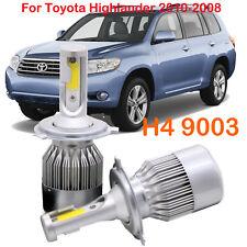 H4 9003 LED Headlights Kit Hi/L Beam Bulbs For Toyota Highlander 2010-2008 FOG
