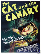 THE CAT AND THE CANARY LOBBY CARD POSTER OS 1939 BOB HOPE PAULETTE GODDARD