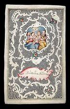 canivet pergamena miniatura 1700 SACRA FAMIGLIA CON S.ANNA E GIOACCHINO