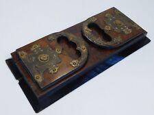 Antique Vintage Asser & Sherwin Wooden Book Slide Gothic Brass Holder Stand 1100
