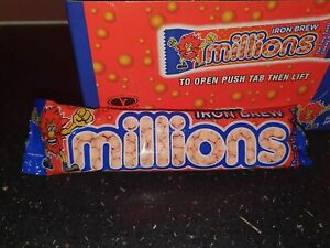 5x New Iron Brew Millions Sweets Candy Irn Bru Flavour Sweet 40 g FREE DELIVERY
