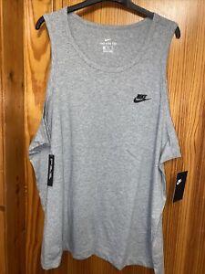 Mens Nike Vest Top Size XXL Grey Vest New Tags Tanks 2XL