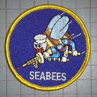 US NAVY SEABEES 3 INCH ROUND PATCH - MADE IN THE USA!