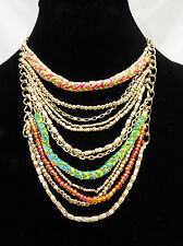 Amazing New Gold Tone Multi Layered Necklace by Anthropologie nwt #Anthro6