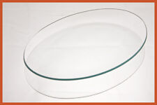 """7""""x 10"""" Oval Clear """"BENT"""" Glass Plate 1/8"""