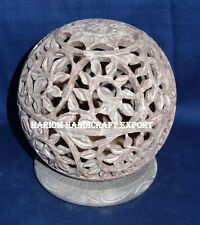 """2.5"""" Lot 6 Marble Candle Holder Lamp Ball Hand carved Home Decor Bedroom Gifts"""